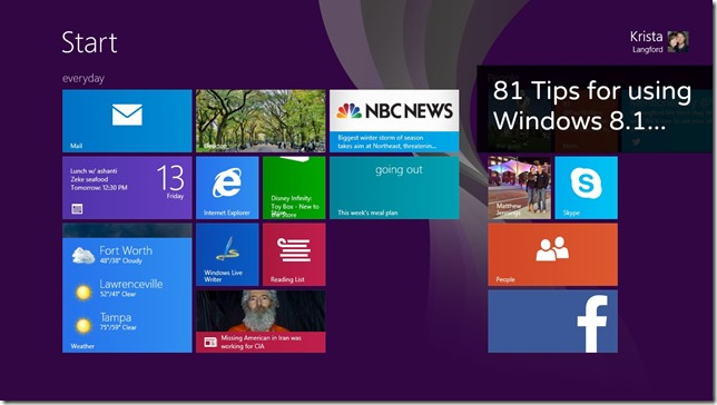 81 tips for windows 8.1