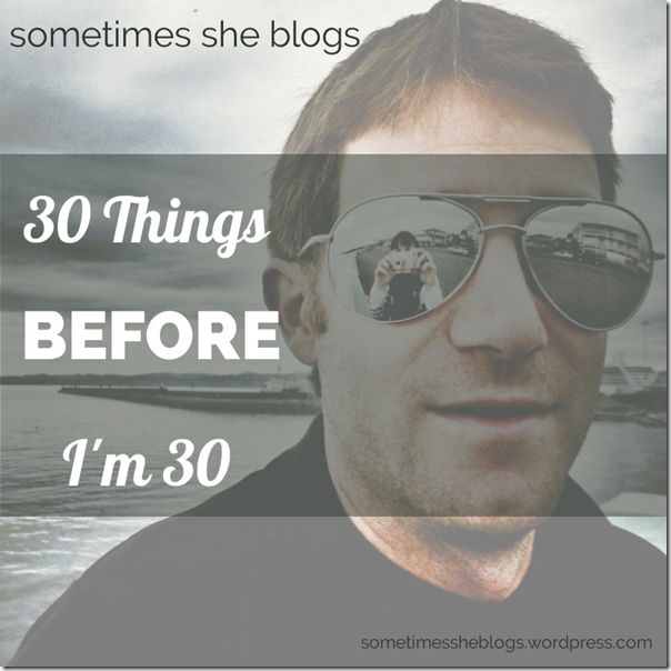 30 things before 30